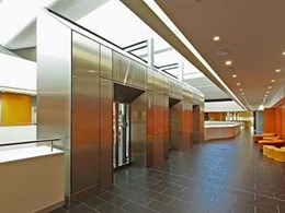 Ultraflex's curved handrails, ceiling panels and aluminium cladding supplied for USYD Charles Perkins Centre interiors