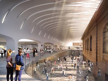Woods Bagot and rail experts John McAslan + Partners (JMP) are the architectural partners tasked with delivering the upgrade to Central Station, a key component of the Sydney Metro City & Southwest project. Image: Woods Bagot and John McAslan + Partners