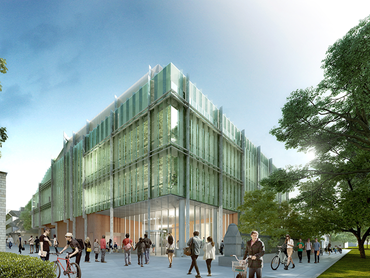Artist impression of the University of Melbourne's Western Edge Biosciences building. Image: HASSELL