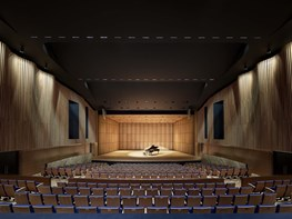 "Performing arts centre designed like a ""vibrant urban streetscape"""