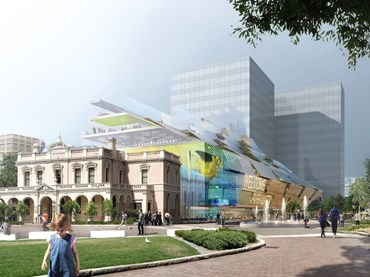 Artist's impression of 5 Parramatta Square by Manuelle Gautrand Architecture, DesignInc and Lacoste + Stevenson