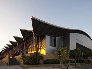 Cox Architecture designed the Cairns Convention Centre for the 2018 Commonwealth Games. Photography by Christopher Frederick Jones
