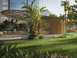 "COX reveal designs for ""pleated"" towers within Southbank's largest green reserve"