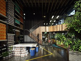 Melrose Health: Mundane warehouse turned conduit for greenery and collaboration