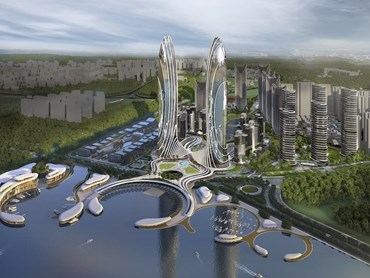 Queensland-based architects, DBI Design has won a $3 billion tender to masterplan and project manage the development of a new financial district in Shantou, 300 kilometres north-east of  Hong Kong - billed as a new 'micro city'. Images: Supplied