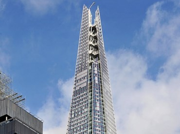 The Shard Tower in London by Alistair Guthrie and Pritzker architect Renzo Piano. Photography by Daniel Imade