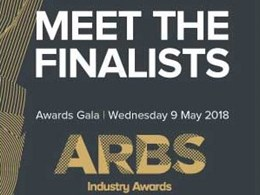 Finalists announced for ARBS 2018 Industry Awards