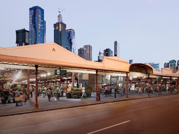 Artist's impression of proposed works to Queen Victoria Market's historic 19th-century. Images: Grimshaw Architects