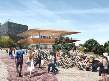 Artist's impression of Apple's first Global Flagship Store in the southern hemisphere, to be built within Melbourne's Federation Square. Image: Apple