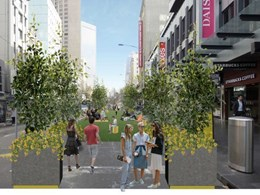 Pop-up park to be built along major Melbourne thoroughfare over summer