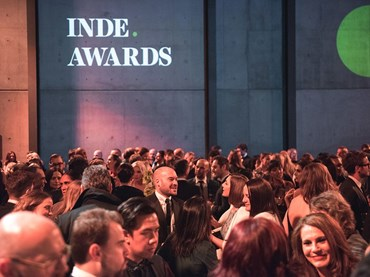 The inaugural INDE.Awards, held in Sydney's Carriageworks earlier this year. Image: Tim Da Rin