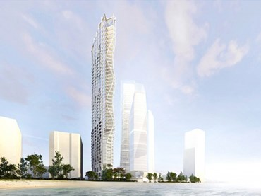 A $200-million, Rothelowman-designed tower has been approved for the Gold Coast beachfront. Image: Rothelowman