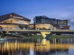 Dramatic geology inspires Woods Bagot's Adelaide Convention Centre design