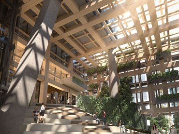 "According to director of design at Fender Katsalidis Nicky Drobis, the Yarra One atrium will ""…improve pedestrian connections between Claremont Street, Yarra Lane, the South Yarra train station, Daly Street and Chapel Street.""  Image: Supplied"