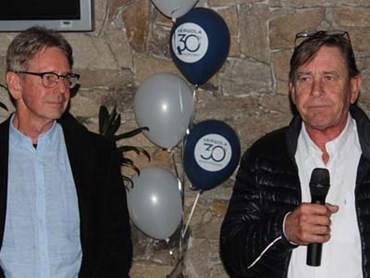 Peter Rust (L) & Stephen Rust, founder (R)