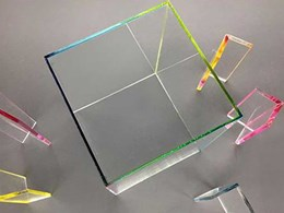 Acrylic fabricated with vibrant joints in translucent colours