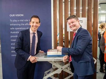 The cake/ribbon was cut by Ben Carroll, State Labor member for Niddrie and Minister for Industry and Employment