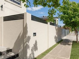 VogueWall privacy wall assuring security and serenity for corner block townhouse
