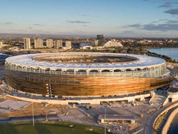 Architect-designed facade at Perth Stadium uses custom Fairview system in 6 colours