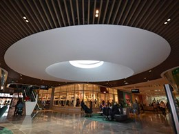 Larger-than-life elliptical skylight moulded for Westfield Shopping Centre