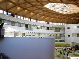 Engineered timber grid shell provides 'heart space' at award-winning Marlowe Academy