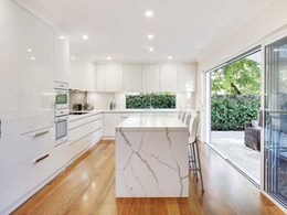 Calacatta Blanco simplifies cleaning and maintenance for Wahroonga kitchen