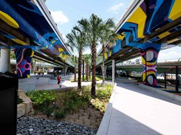 Mural at car park-turned-recreational space gets the Dulux protection