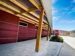 Wodonga primary school classrooms feature colourful Weathertex architectural panels