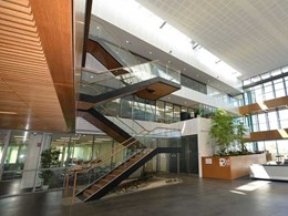 Architectus Group finds the perfect sustainable combination of linings and finishes for atrium
