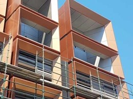 Metal finish cladding adds Mirage effect to new luxury apartments in Sydney