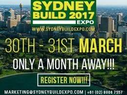 Sydney Build 2017 – Diverse Construction Content and a Free-entry exhibition