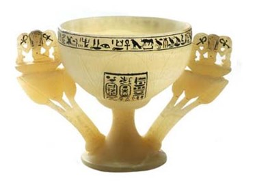 Tutankhamun Wishing Cup in the Form of an Open Lotus from NSW Planning (DPE EDM Images)