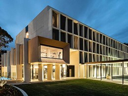Ever Art Wood panels create striking timber look facade on new Sydney hotel