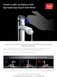 Create a safer workplace with Zip HydroTap Touch-Free Wave