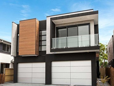 The award-winning Thirroul townhouse project featuring Cemintel cladding