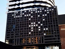 Porthole façade on Barak building created with ShapeShell Single Skin