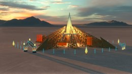 Renzo Verbeck's Burning Man temple