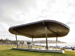 Ocean-inspired accessible shelters on iconic Bondi Beach