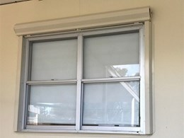 Windowshield fire shutters installed on hospital windows for BCA compliance