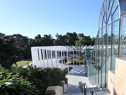 Lysaght roof cladding installed on new $17m exhibition centre at the Royal Botanic Garden