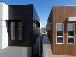 five-house development in Brisbane gets the high-end modern Cemintel finish