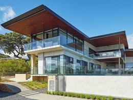 Barestone External features in luxurious architect-designed Eagle Bay home