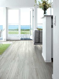 Decoria Loose Lay vinyl flooring eliminates adhesives, allows re-laying