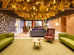 durlum ceiling adds dynamism to multi-generation care home in Swiss town