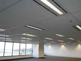 CSR Ceilector ceiling provides Exchange Tower WA a clean and modern feel