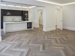 Architect specifies Fendi herringbone flooring for London apartment