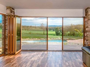 Folding door screen