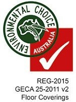 GECA certification for Regupol rubber flooring and acoustic underlay products