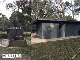 Hanging Rock Toilet Block features vandal resistant Britex fixtures