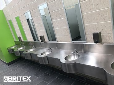 Britex stainless steel hand basins